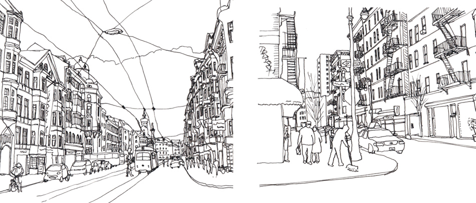 """Urban Things"" sketched by James Petty"